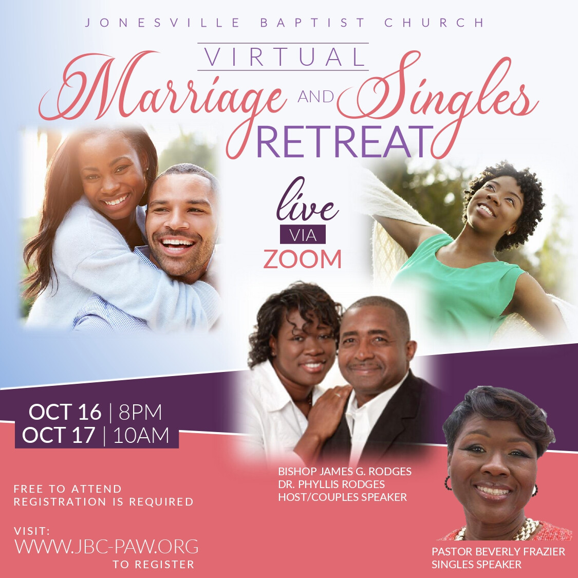 Virtual Marriage and Singles Retreat