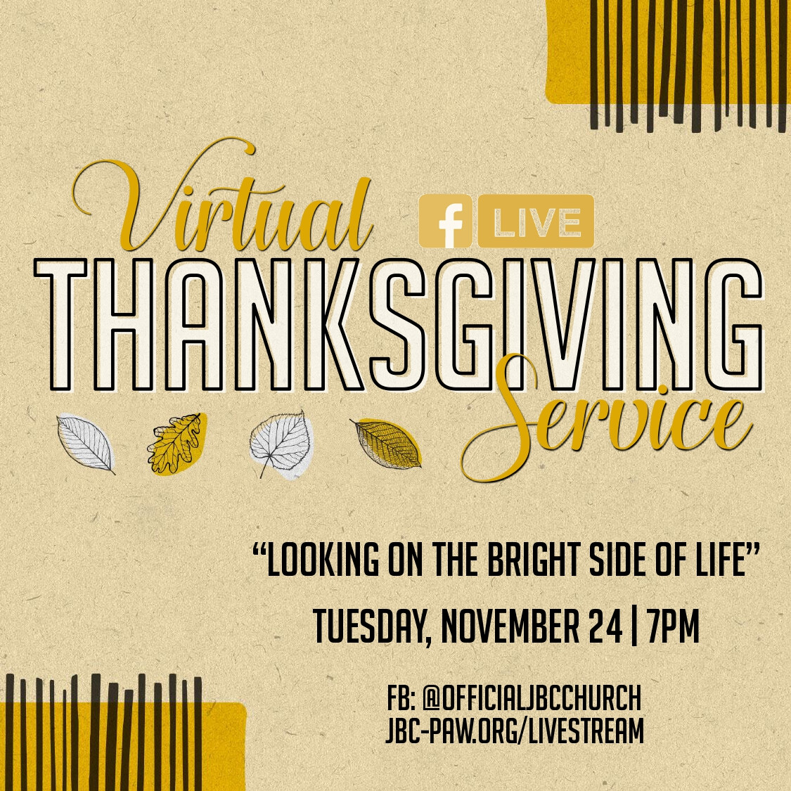 Virtual Thanksgiving Service