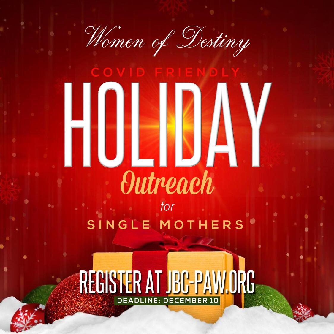Women of Destiny COVID Friendly Holiday Outreach